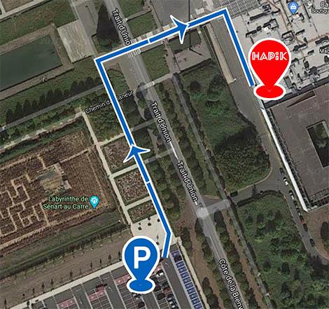 plan salle d'escalade Carré Sénart