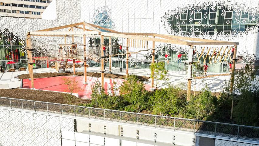 Plan au drone du centre de Lyon Part Dieu